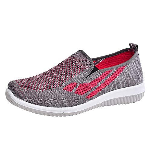 DAIFINEY Damen Straßenlaufschuhe Bequeme Ultraleichte Laufschuhe Sportschuhe Sportschuhe Mode Atmungsaktive Schuhe Laufschuhe Mesh-Sportschuhe(Violett,38 EU)