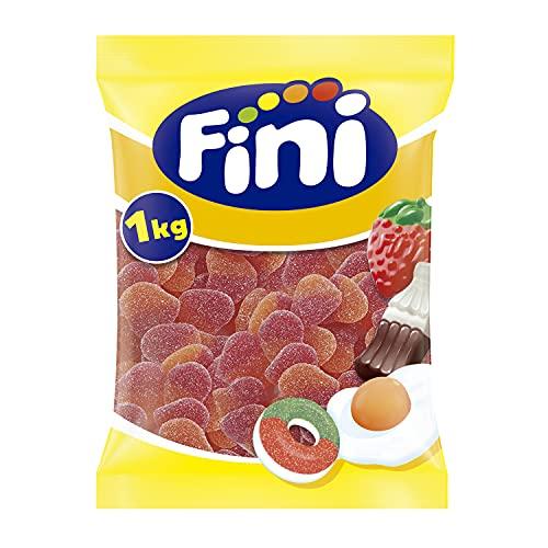 Fini Golosinas | Gominolas de Corazón de Melocotón | Caramelos de Goma Sin Gluten y Sin Grasas | Chuches para Fiestas y Regalos - 1 kg