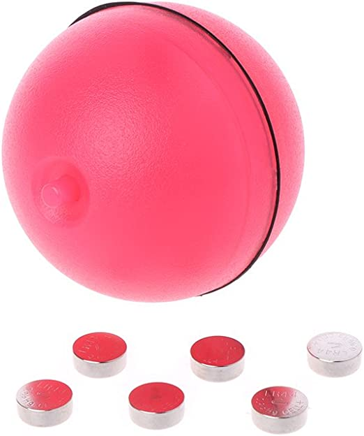 Amazon Com Misright Funny Pet Dog Cat Led Light Magic Ball Teaser Exercise Interactive Automatic Toy Red Pet Supplies