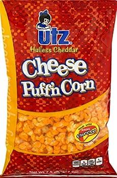 Utz Hulless Cheddar Cheese Puff n Corn- 7.5 oz Bags  3 Bags