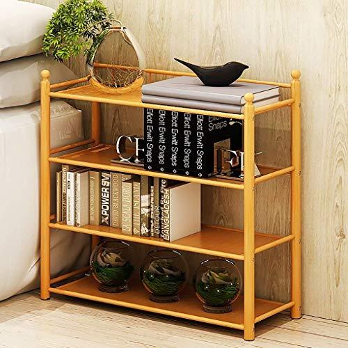 YLCJ Schoenenkast van natuurlijk bamboe, multifunctionele ophanging in de woonkamer, klein schoenenmeubel voor huis, eenvoudig schoenenrek (maat: 68 cm)