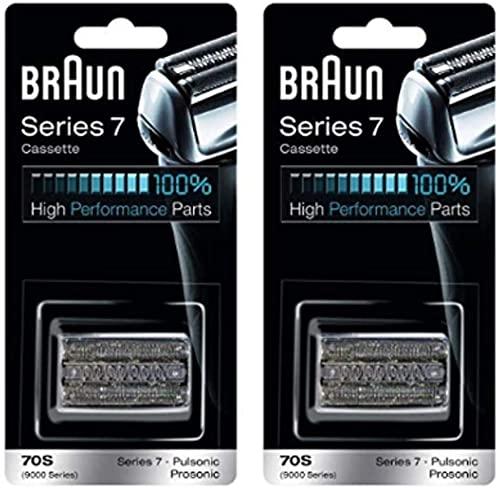 Braun Cassette de rechange série 7 Combi 70S (anciennement 9000 Pulsonic) - Value Pkg (2 recharges)