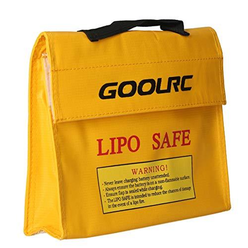 GoolRC 9.45 * 2.48 * 7.87in Bolsa Segura para Batería Lipo Bolsa de Almacenamiento de Batería a Prueba de Explosiones a Prueba de Fuego