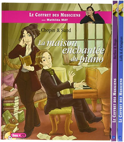Le Coffret Des Musiciens 3 Volumes Lully Dartagnan Chopin Sand Berlioz Hugo 3cd Audio