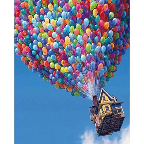 Boleczheng DIY Malen nach Zahlen für Erwachsene Anfänger Kinder, Bunte Luftballons 16 x 20 Zoll Leinen Leinwand Acryl Anzahl Malerei Geschenke/kein Rahmen