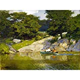 Potthast Boating Central Park New York Nature Painting Extra Large Art Print Wall Mural Poster Premium XL Bote Parque Nueva York Naturaleza Pintura Arte Grande Pared Póster