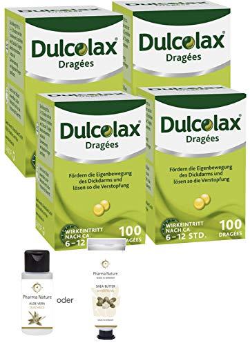 Dulcolax Dragees 4x100 Stück Sparset inkl. einer Handcreme o. Duschbad von Pharma Nature