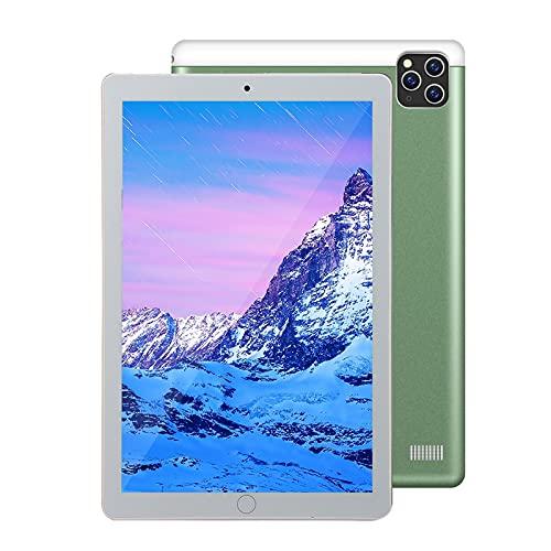 Tableta Android Llamada 3G 10.1 Pulgadas 800 * 1280 Pantalla IPS 1GB RAM 16GB ROM / 128GB Expandir 0.3MP y 2.0MP Cámara, GPS, FM, WiFi, Bluetooth para lecciones en línea, Lectura,Verde