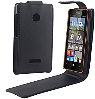 LGYD for Vertical Flip Magnetic Button Leather Case for Microsoft Lumia 435