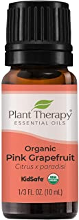 Plant Therapy Organic Pink Grapefruit Essential Oil 10 mL (1/3 oz) 100% Pure, Undiluted, Therapeutic Grade