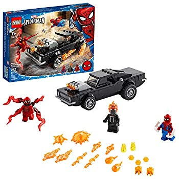 LEGO Marvel Spider-Man  Spider-Man and Ghost Rider vs Carnage 76173 Collectible Building Toy for Kids New 2021  212 Pieces