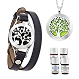 LorFain Essential Oil Bracelet and Necklace, Stainless Steel Aromatherapy...