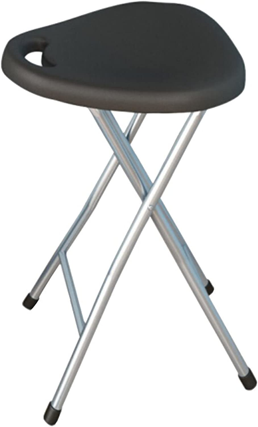 Folding Stool Chair Plastic Office Computer Stool Home Leisure Portable Stool Fishing Stool Black   red White   25  30  47cm (color   Black)