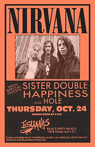 Nirvana Replica 1991 Concert Poster
