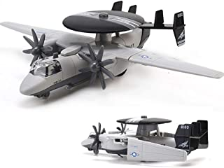 CORPER TOYS Diecast Plane Early Warning Airplane Model Navy Hawkeye Pull-Back Attack Aircraft Toys for Kids Boys (Grey)