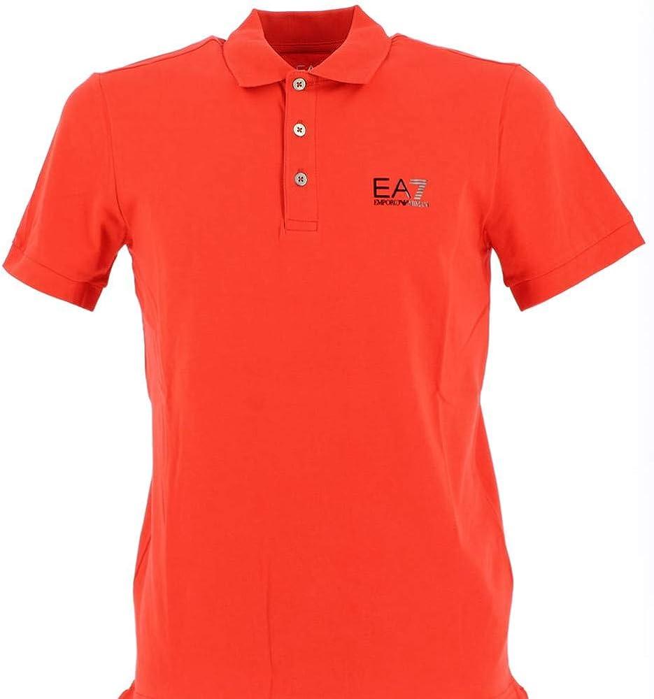 Emporio armani polo, maglietta per uomo a  manica corta, 95% cotone, 5% elastan 8NPF04 PJM5Z 1451