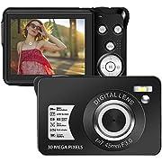 Digital Camera 1080P 30 Mega Pixels Full HD Vlogging Camera Rechargeable 2.7 Inch Camera Pocket Camera with 8x Digital Zoom Compact Camera for Teenagers Beginners