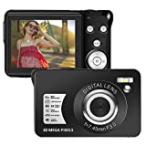 Digital Camera 1080P 30 Mega Pixels Full HD Vlogging Camera Rechargeable 2.7 Inch Camera Pocket Camera with 8x Digital Zoom Compact Camera for Teenagers Beginners