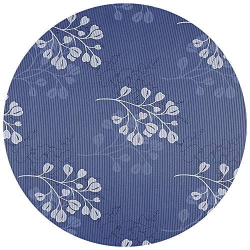 DecoHomeTextil Gartentischdecke Tischdecke Capri Miami 3D Druck mit Einfassband Softschaum Farbe & Größe wählbar Rund 160 cm Blau Weiß Outdoor Frühling Sommer