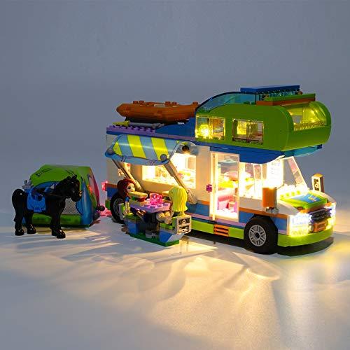USB Juego de Luces de para Caravana de Friends Mia Modelo de Bloques de Construcción, USB Juego de Luces Compatible con Lego 41339 (Modelo Lego no incluido)