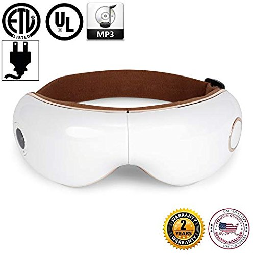 SKANDAS Eye Massager (2019 New Model) - Facial mask/Massage Glasses Rechargeable with Vibration,...