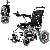 Wheel-hy Silla de Ruedas eléctrica Plegable, Anciano Portátil Ligero Scooter Electrico, Silla de Ruedas eléctrica Minusvalido