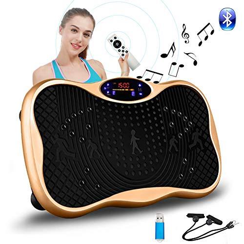 振動マシン フィットネス ぶるぶる マシン シェイカー ミニ パワーウェーブ Bluetooth音楽機能 99段階5モー...