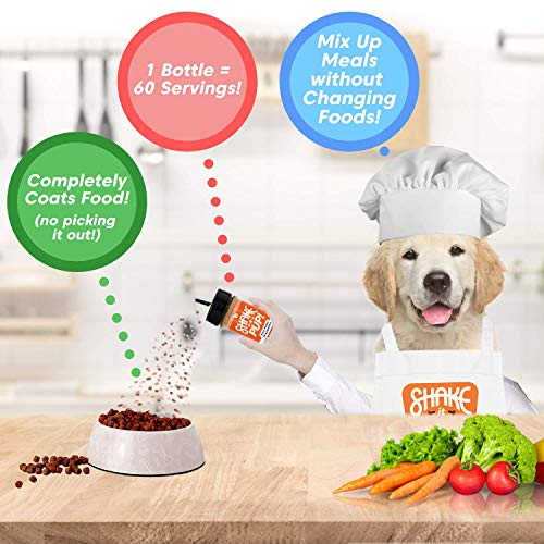 Shake it Pup! Dog Food Seasoning - Gourmet, All-Natural Topper for Kibble, Wet, Raw - Flavor Enhancer, Broth, and Gravy for Picky Eaters - 3-Bottle Set (Turkey Feast + Salmon + Charcuterie)