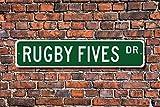 VGSH Rugby Fives Rugby Fives Rugby Fives Rugby Fives Fan Rugby Fives Jeu de Handball Squashlike Custom Street S 4 x 16 Pouces
