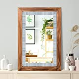 Rustic Wall Mirror with Wood Frame 20' x 30' - Ideal for Bathroom Mirror, Vanity Mirror, Decorative Mirror - Great Rustic Mirror, Wood Mirror, Farmhouse Mirror, and Large Framed Mirror Décor