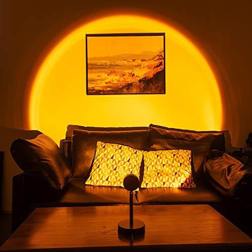 Sunset Lamp, Sunset Projection Lamp, Lampe De Coucher De Soleil De Table De Projection Arc-en-Ciel, Lampe De Projection Colorée Rotative De Chambre À Coucher Éclairage