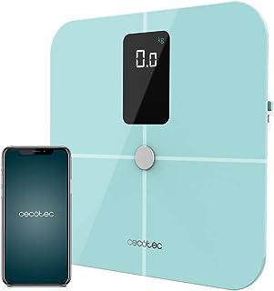 Cecotec Báscula de Baño inteligente Surface Precision 10400 Smart Healthy Vision Blue. Medición de Bioimpedancia, App, Gran Pantalla, 17 Parámetros