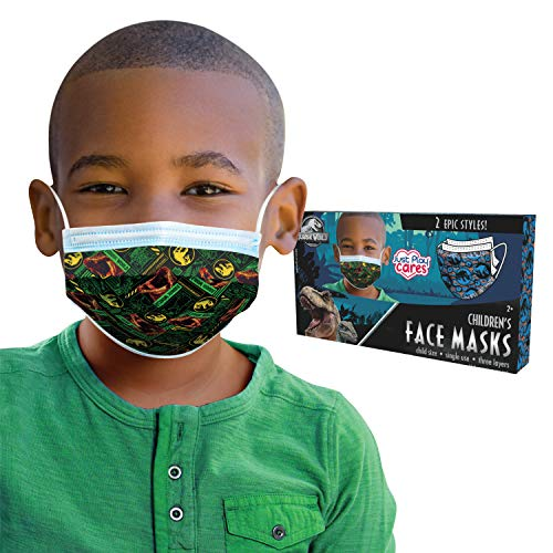 Children's Single Use Face Mask, Jurassic World, 14 Count, Small, Ages 2 - 7