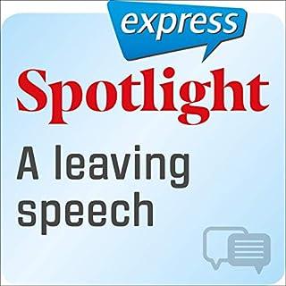 Spotlight express - Kommunikation: Wortschatz-Training Englisch - Eine Abschiedsrede Titelbild