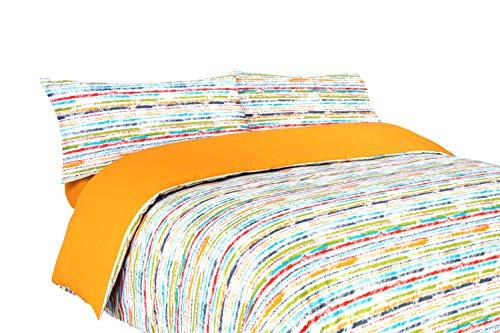 Funda nórdica Rayas de Colores (Stripe para Cama de 90x190/200 Nórdico de 150)