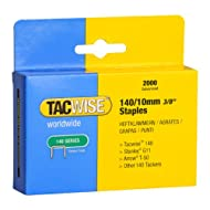 Flat wire (thicker than 13 and 53 type) galvanised staples for the professional, providing a strong hold Flat wire staples used by professionals and DIY'rs alike in hand tackers, hammer tackers, electric tackers and air tacker from Tacwise Popular wi...