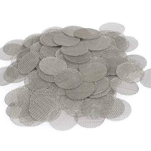 Guarnizione per tubi di fumo, in acciaio inox, argento, diametro 20 mm