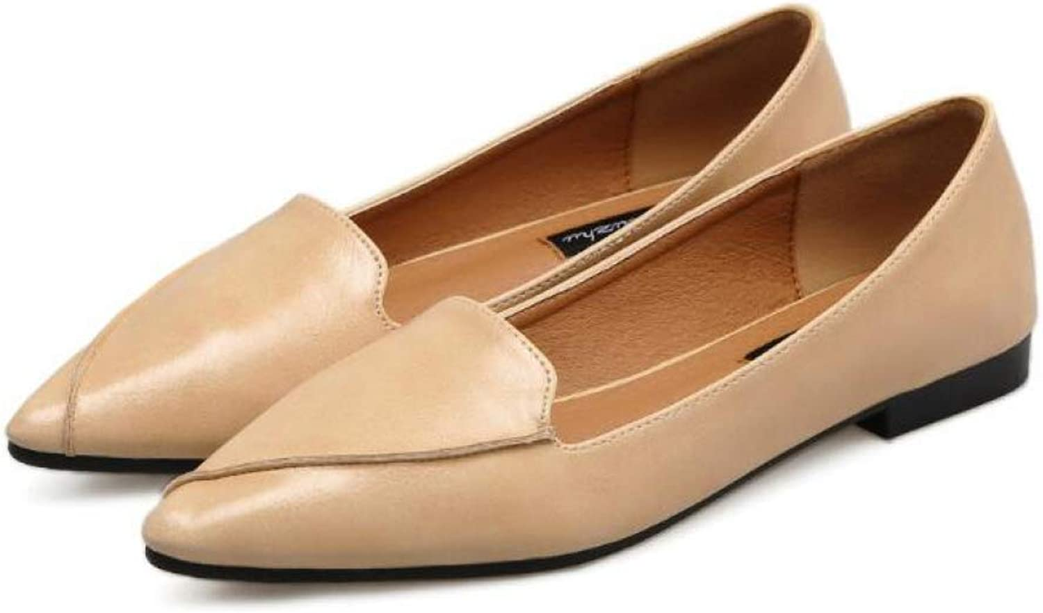 DETAIWIN Women Pointed Toe Ballet Loafers Slip On Comfort Party Faux Leather Ladies Fashion Flats Dress shoes