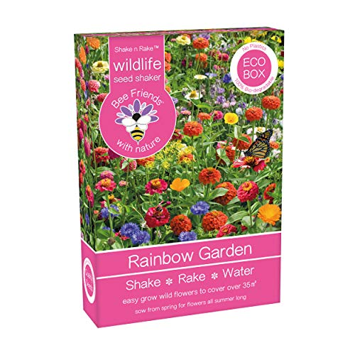 Wildflowers Shake And Rake Grow Your Own Colour Themed Annual Flowers from Seed (Rainbow Garden)