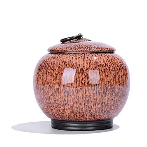 SXLZ Urnen Für Asche Adult Large Cremation Urn Feuchtigkeitsbeständige Dekorative Aufbewahrungsbox Für Hunde Katzen Vögel,Brown