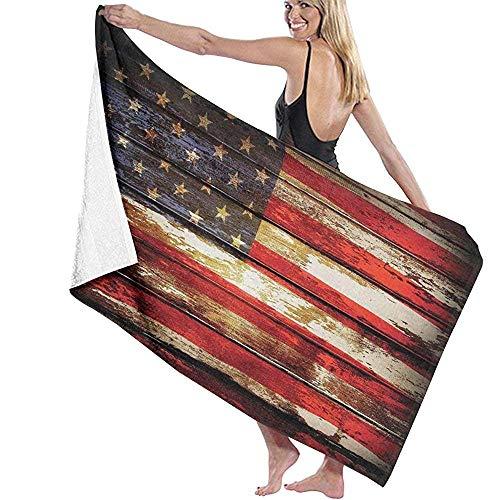 MJDIY Bad Handdoeken, Ons Symbolie Over Oude Roestige Tonen Verweerde Vintage Sociale Plank Artwork Zachte Lichtgewicht Vrouwen Badhanddoeken Voor Reizen Camping 80x130cm