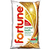 Fortune Rice Bran Health Oil, Cooking Oil for Healthier Heart, 1l Pouch