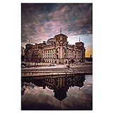 artboxONE Poster 30x20 cm Städte Reichstag als Traumwelt -