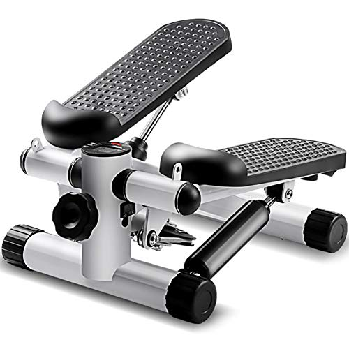 Laterale Side Stepper-fitnesstoestel incl. Swing Stepper voor beginners en gevorderden, Benen Arm Dijtrainer Fitness Full Body Workout,Gray