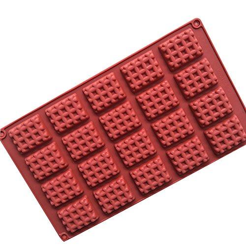 Ndier Moule de Silicone de Moule de Moule de gaufres pour la cavité 20 de Moule d'Ustensiles de Chocolat de Sucrerie