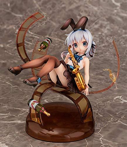 Quieres comprar un poco de perfume de conejo Chino Chino estilo jazz Chino modelo estatua PVC modelo juguete decoración adornos regalos para adolescentes alto 16cm