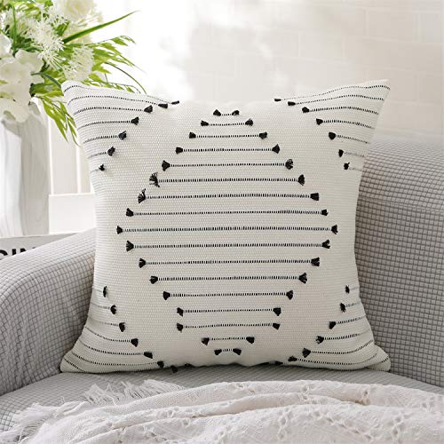 KKY Boho Cotton Throw Pillow Cover Cotton
