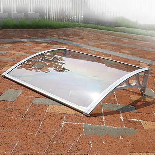 Lw Canopies Türvordach Sonnensegel, Transparente Tür Eintrag Markise Türüberdachung Terrassendach - Größe: 60 * 60/80/100/120 / 150CM (Size : 60 * 100cm)