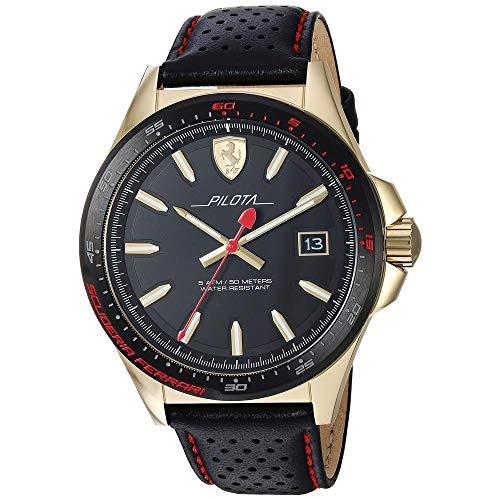 Scuderia Ferrari Reloj Analógico para Hombre de Cuarzo con Correa en Cuero 830490
