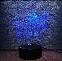 giyiohok3DナイトライトLEDテーブルランプアベンジャーズマーベルコミックスアンリミテッドガントレットサノスムードベッドルーム子供のおもちゃクリスマスギフト-N14-N30